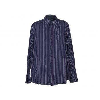 Мужская фиолетовая рубашка в полоску F&F, XL