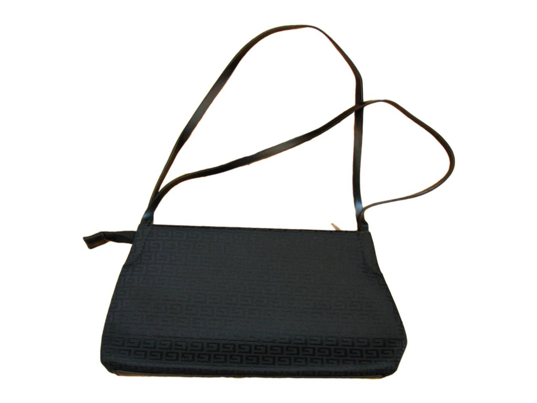 Женская черная текстильная сумочка