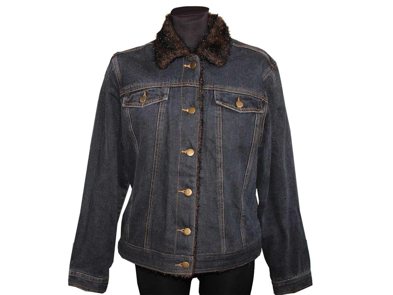 Женская джинсовая утепленная куртка GEORGE, XL