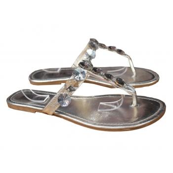 Женские серебристые сандалии вьетнамки RIVIERA 37 размер