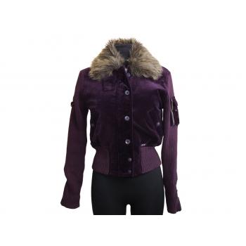 Женская велюровая фиолетовая куртка весна-осень BXB