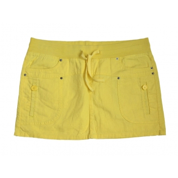 Желтая льняная мини юбка VERO MODA, L