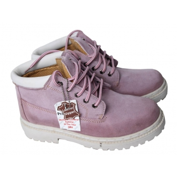 Женские замшевые розовые ботинки 37 размер