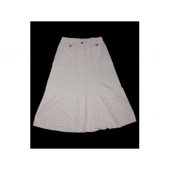 Женская белая юбка трапеция PAPAYA, L