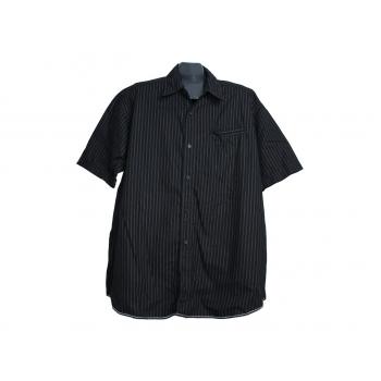 Мужская черная рубашка в полоску ANGELO LITRICO, XXL