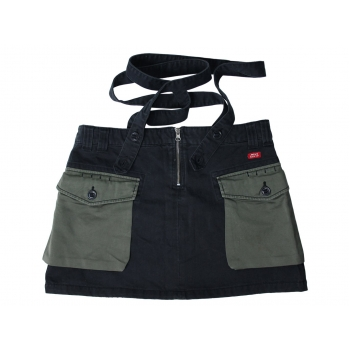 Женская джинсовая мини юбка с подтяжками MISS SIXTY