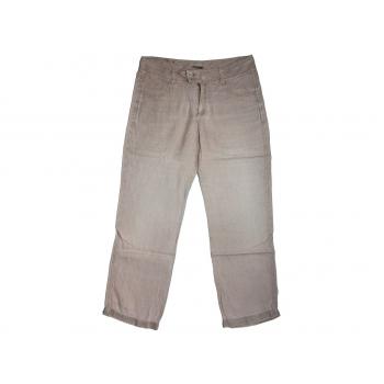Женские бежевые льняные брюки JACK POT, L