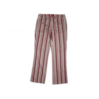 Женские бежевые брюки в полоску ESPRIT, S