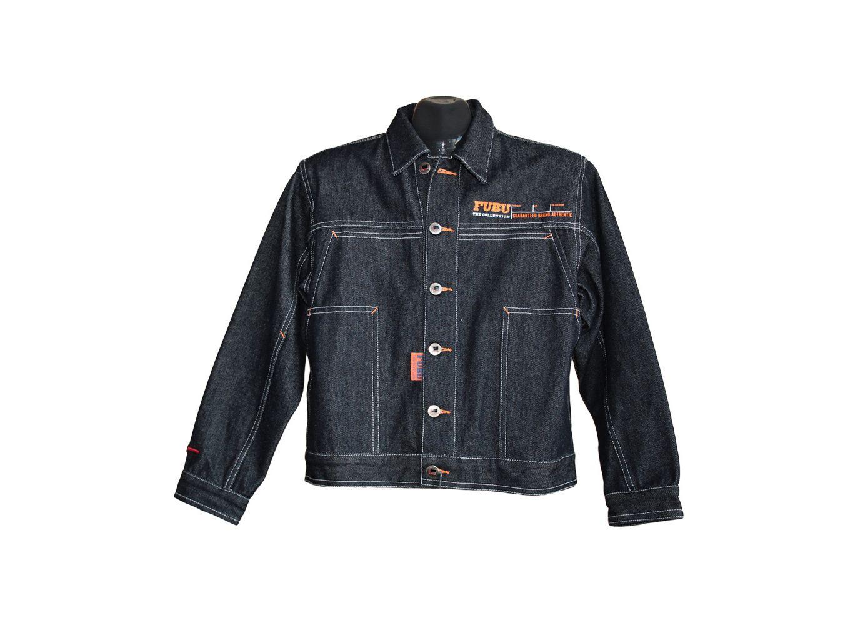 Детская джинсовая куртка FUBU на мальчика 12-16 лет