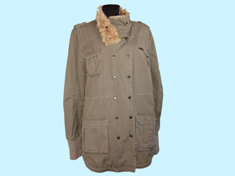 Женская зеленая демисезонная куртка H&M, L
