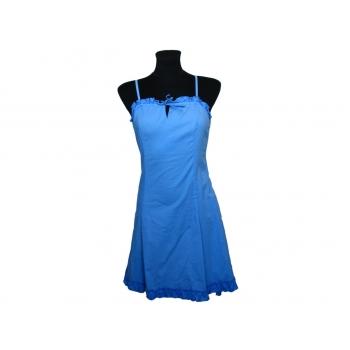 Женский голубой сарафан на бретельках