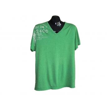 Мужская зеленая футболка RIVER ISLAND, L