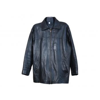 Мужская черная кожаная куртка весна осень, L