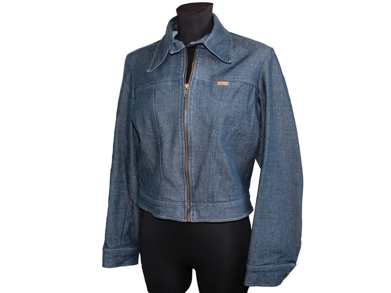 Женская синяя джинсовая куртка MORGAN, M