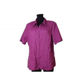 Женская сиреневая льняная рубашка MODISSA, L
