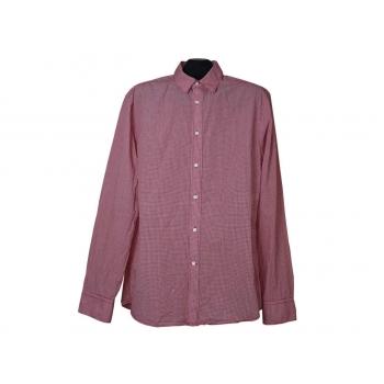 Мужская красная рубашка в клетку H&M, L