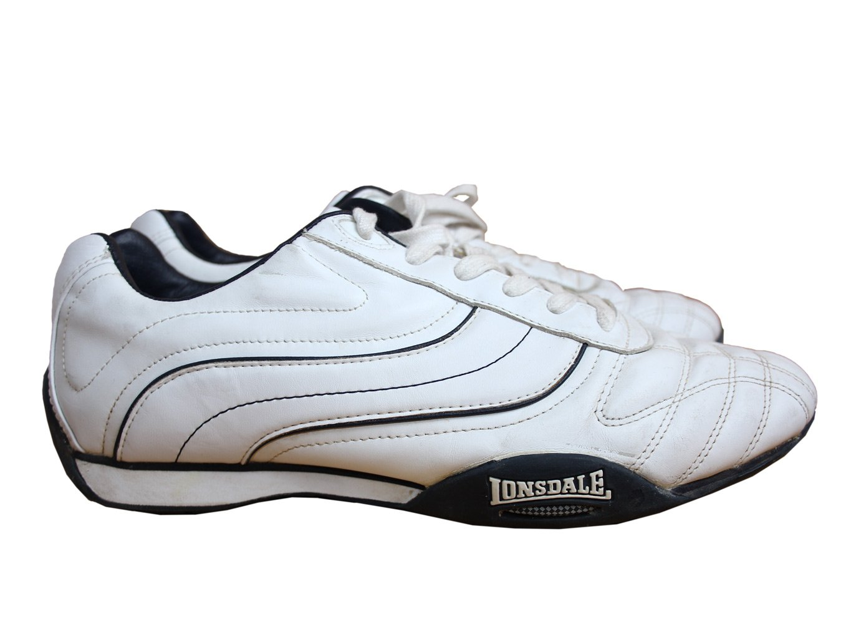 Мужские белые кроссовки LONSDALE 44 размер