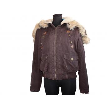 Женская зимняя коричневая куртка SO.FUNKY, XL