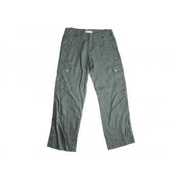 Женские зеленые льняные брюки LULU, XS