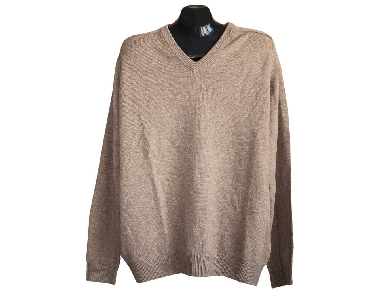 Мужской шерстяной коричневый свитер MARKS & SPENCER, XXL