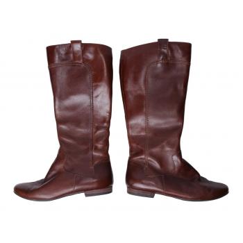 Женские коричневые кожаные сапоги CLARKS 36 размер