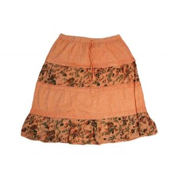 Женская модная оранжевая юбка, XL