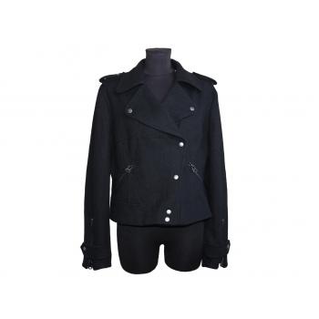 Женская черная шерстяная куртка весна осень RIVER ISLAND, L