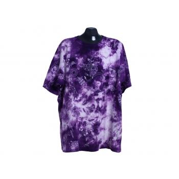 Мужская фиолетовая футболка большого размера, XXL