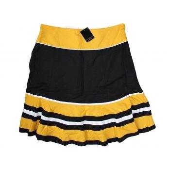 Женская желтая льняная юбка COLLECTION, XXL