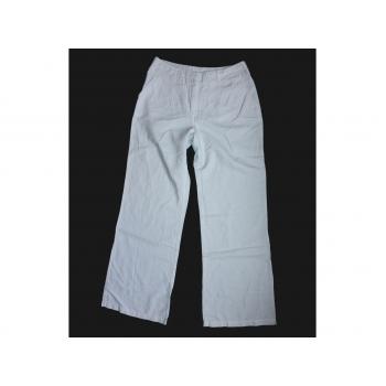 Женские белые льняные брюки YESSICA, XS