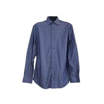 Мужская синяя рубашка в полоску NEXT, М