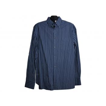 Мужская синяя рубашка в полоску MARKS&SPENCER BLUE HARBOUR, L