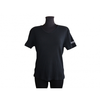 Женская черная футболка ESPRIT, L