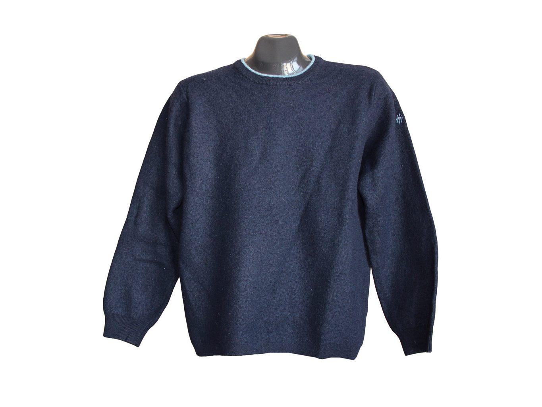 Мужской шерстяной синий свитер MARKS & SPENCER, М