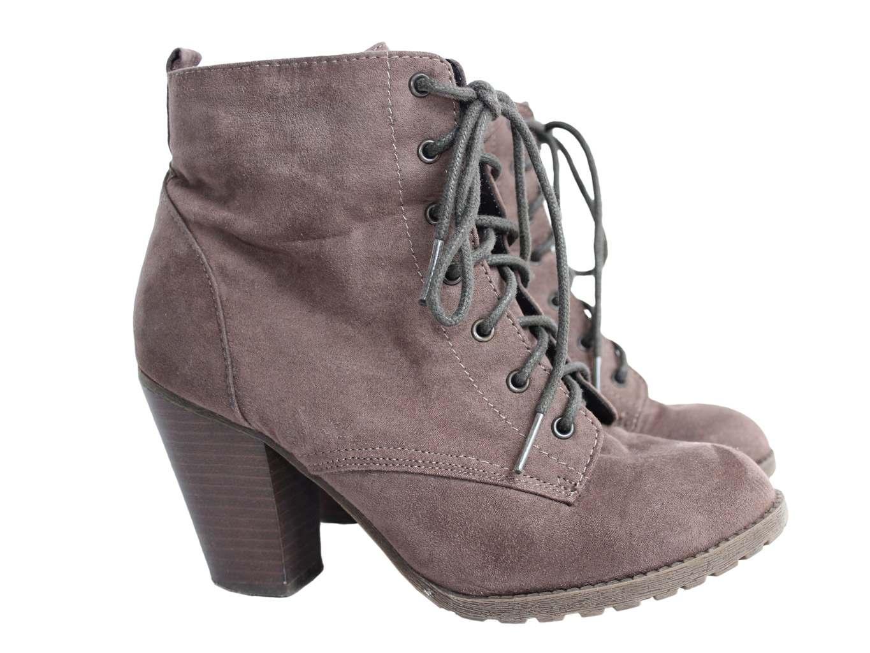 Женские коричневые ботинки F&F 37 размер
