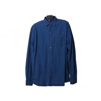 Мужская синяя рубашка в клетку S.OLIVER, XL