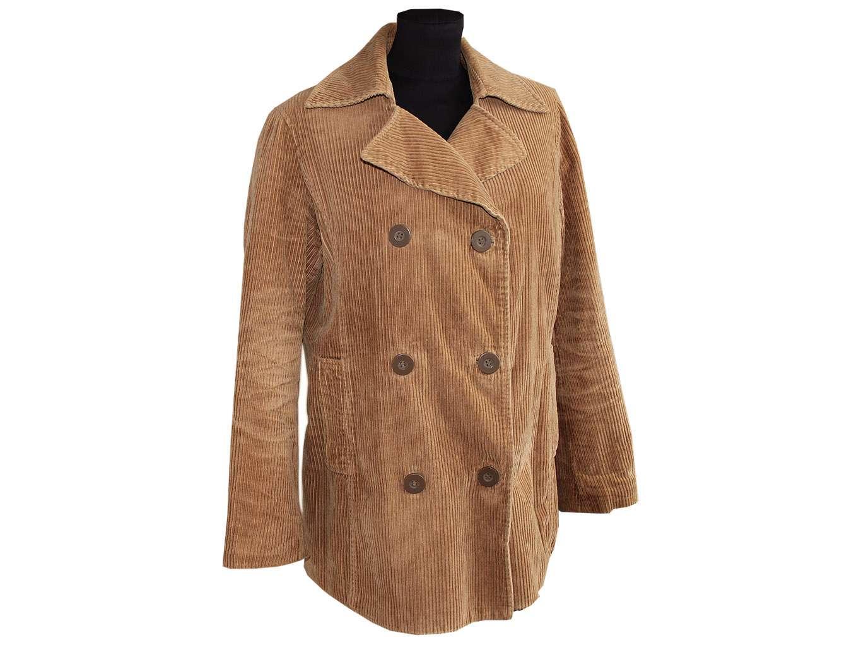 Женское вельветовое демисезонное пальто H&M, XL
