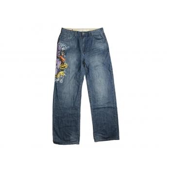 Мужские джинсы с принтом на высокий рост W 34 ECKO UNLTD