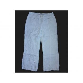 Женские белые льняные брюки PER UNA, L