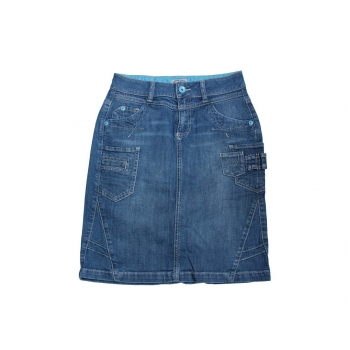 Женская джинсовая миди юбка ETAM