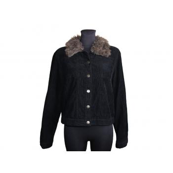 Женская черная вельветовая куртка, XL