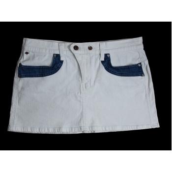 Женская белая джинсовая мини юбка LEE COOPER, М