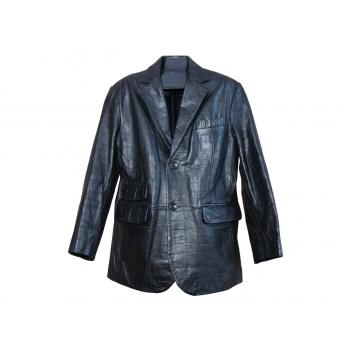 Мужской кожаный солидный пиджак KIT, L