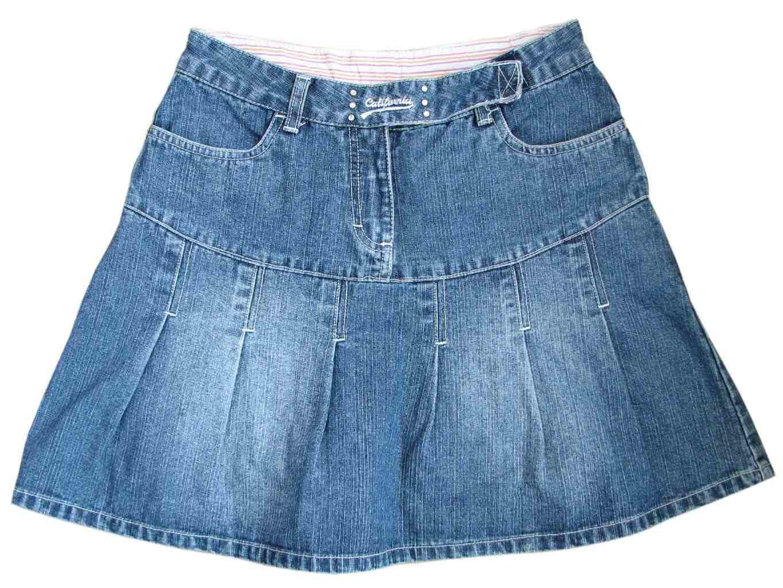 Джинсовая юбка для девочки 7-9 лет HERE&THERE