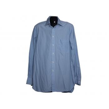 Мужская голубая рубашка в полоску HILDITH&KEY, L