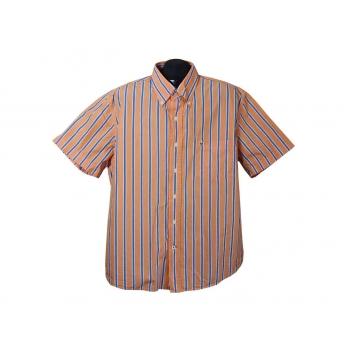 Рубашка мужская оранжевая в полоску BASEFIELD, XL