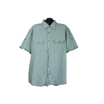 Рубашка мужская зеленая в полоску CAMP DAVID, XXL