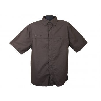 Рубашка мужская коричневая QUECHUA, XL