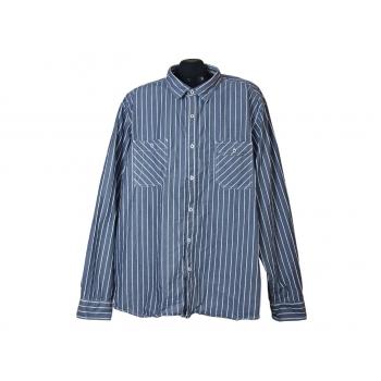 Мужская серая рубашка в полоску RCMN denim outfitters