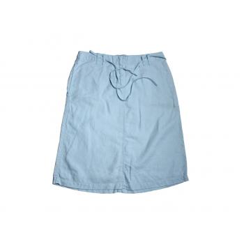 Женская голубая льняная юбка H&M
